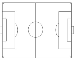 photo relating to Printable Soccer Field Layout identify Printable Football Industry - Football Drills Teach Packages